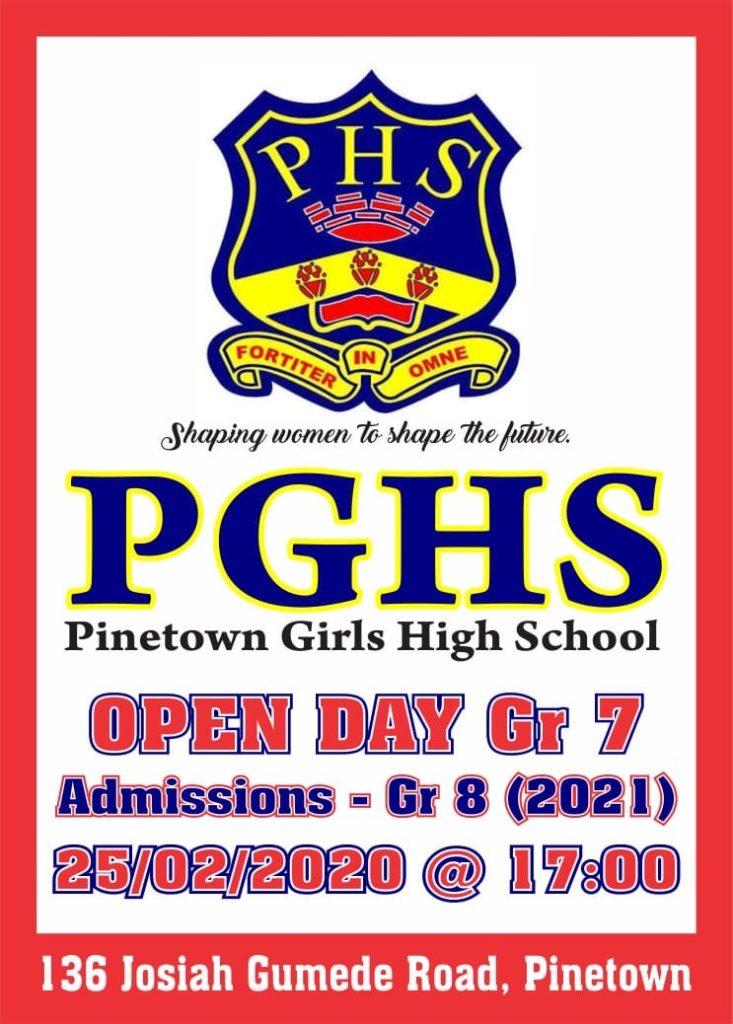 Pinetown Girls` High School Grade 7 Open Day